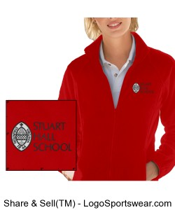 Ladies Full Zip Fleece Jacket Design Zoom