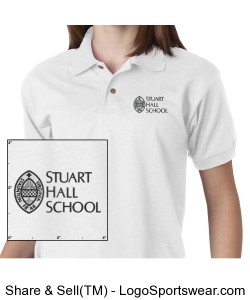 Youth 100% Cotton Pique Polo Design Zoom