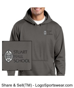 Sport-Tek® - Sport-Wick® Fleece Hooded Pullover Design Zoom